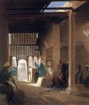 Interior of a Moorish Cafe Arabian Orientalist Charles Theodore Frere Oil Paintings