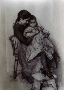 Sisters Realism Emile Friant Oil Paintings