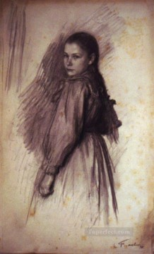 Emile Friant Painting - Young Girl Realism Emile Friant
