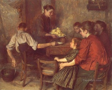 Le Repas Frugal Realism Emile Friant Oil Paintings