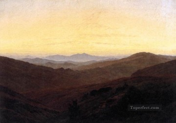 The Riesengebirge Romantic Caspar David Friedrich Oil Paintings