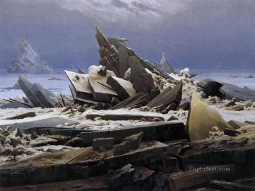 The Sea Of Ice Romantic Caspar David Friedrich Oil Paintings