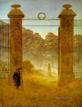 Cemetery at Dusk HSE Romantic Caspar David Friedrich Oil Paintings