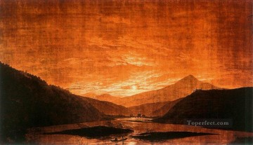Mountainous River Landscape Romantic Caspar David Friedrich Oil Paintings