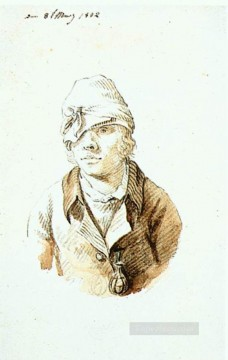 David Art Painting - Self Portrait With Cap And Sighting Eye Shield Caspar David Friedrich