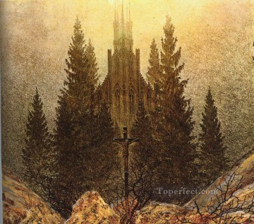 The Cross on the Mountain Kunstmuseum at Dusseldorf Romantic Caspar David Friedrich Oil Paintings