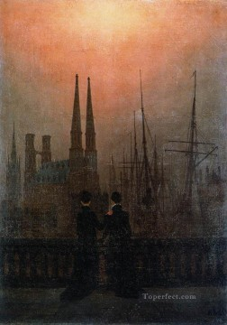 The Sisters On The Balcony Romantic Caspar David Friedrich Oil Paintings