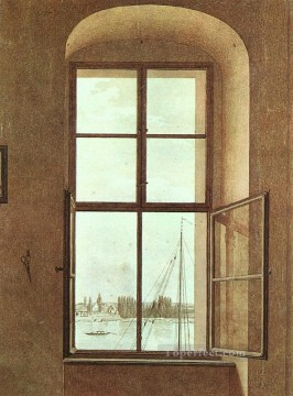 View from the Painters Studio Romantic Caspar David Friedrich Oil Paintings