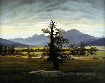 Morning Painting - Village Landscape In Morning Light Romantic Caspar David Friedrich