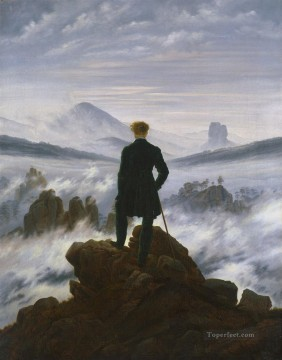 Wanderer above the Sea of Fog HSE Romantic Caspar David Friedrich Oil Paintings
