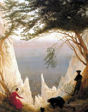 Chalk Cliffs on Rugen Romantic Caspar David Friedrich Oil Paintings