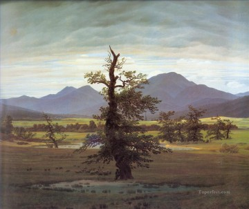 Tree Painting - Friedrich Landscape with Solitary Tree Romantic Caspar David Friedrich