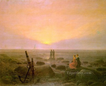 Moon Rising over the Sea Romantic Caspar David Friedrich Oil Paintings