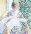 On the Balcony Impressionist women Frederick Carl Frieseke