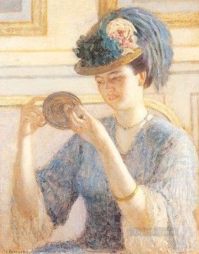 Carl Art Painting - Reflections Impressionist women Frederick Carl Frieseke