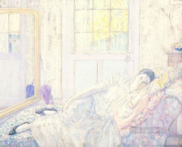 Carl Art Painting - Rest Impressionist women Frederick Carl Frieseke