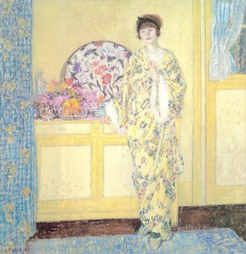 The Yellow Room Impressionist women Frederick Carl Frieseke Oil Paintings