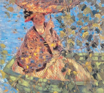 Frederick Works - Through the Vines Impressionist women Frederick Carl Frieseke