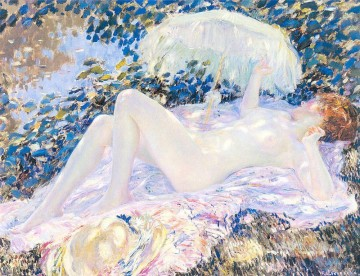 Venus in the Sunlight Impressionist women Frederick Carl Frieseke Oil Paintings
