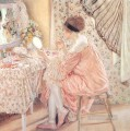 Before Her Appearance La Toilette Impressionist women Frederick Carl Frieseke