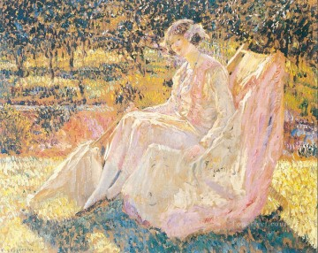 Sunbath Impressionist women Frederick Carl Frieseke Oil Paintings