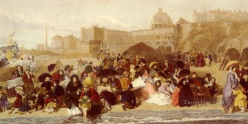 Frith Oil Painting - Life At The Seaside Ramsgate Sands Victorian social scene William Powell Frith