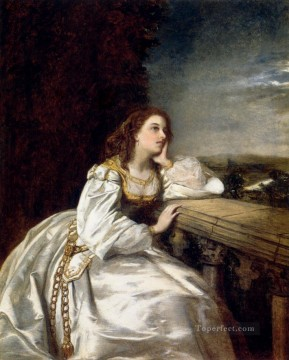 William Powell Frith Painting - Juliet O That I Were A Glove Upon That Hand Victorian social scene William Powell Frith