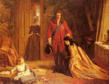 Frith Oil Painting - An Incident In The Life Of Mary Wortley Montague Victorian social scene William Powell Frith