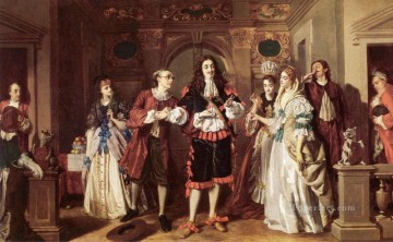 victorian victoria Painting - A scene from Molieres LAvare Victorian social scene William Powell Frith