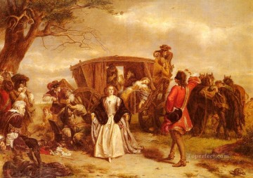 Frith Oil Painting - Claude Duval Victorian social scene William Powell Frith