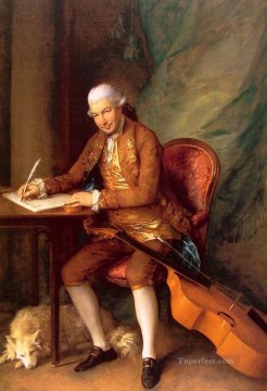 Carl Art Painting - Carl Friedrich Abel portrait Thomas Gainsborough
