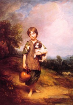 thomas - Cottage Girl with dog and Pitcher portrait Thomas Gainsborough