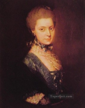 Elizabeth Wrottesley portrait Thomas Gainsborough Oil Paintings