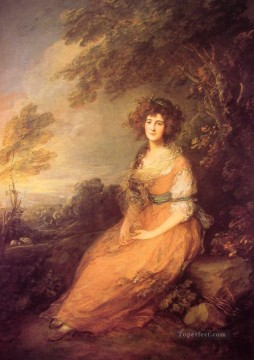 Mrs Sheridan portrait Thomas Gainsborough Oil Paintings