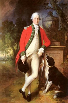 thomas - Portrait Of Colonel John Bullock Thomas Gainsborough