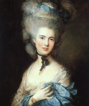 thomas - Portrait of a lady in blue Thomas Gainsborough
