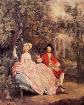 Conversation in a Park Thomas Gainsborough Oil Paintings