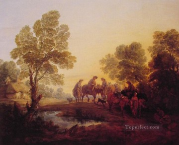 thomas - Evening LandscapePeasants and Mounted Figures Thomas Gainsborough