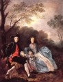 Portrait of the Artist with his Wife and Daughter Thomas Gainsborough