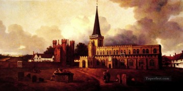 thomas kinkade Painting - St Marys Church Hadleigh Thomas Gainsborough