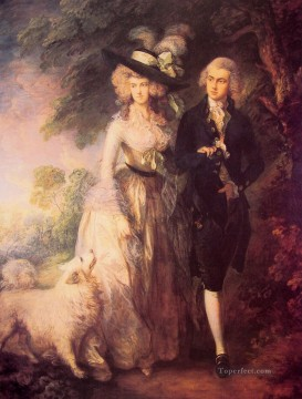 The Morning Walk Thomas Gainsborough Oil Paintings