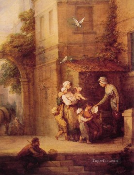 Charity relieving Distress Thomas Gainsborough Oil Paintings