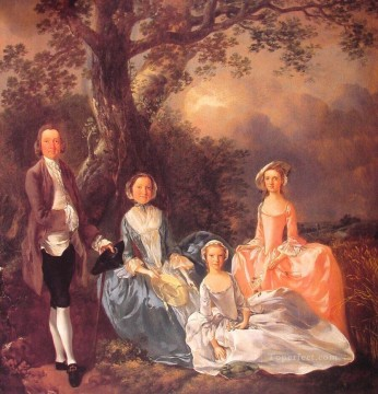 The Gravenor Family Thomas Gainsborough Oil Paintings