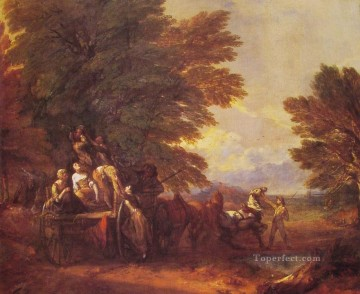 thomas - The Harvest Wagon landscape Thomas Gainsborough