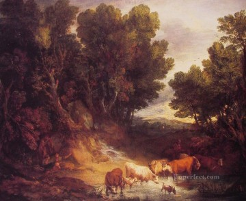 The Watering Place landscape Thomas Gainsborough Oil Paintings