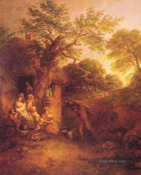The Woodcutters Return landscape Thomas Gainsborough Oil Paintings