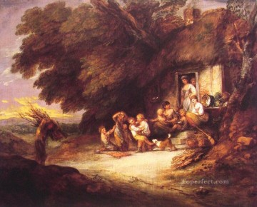 thomas - The Cottage Door landscape Thomas Gainsborough
