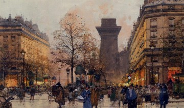 Les Grands Boulevards A Paris Parisian gouache Eugene Galien Laloue Oil Paintings