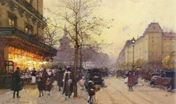 Parisian Works - PLACE DE LA REPUBLIQUE PARIS Parisian gouache Eugene Galien Laloue