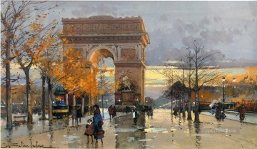 Place de L etoille a pres la pluie Galien Eugene Oil Paintings